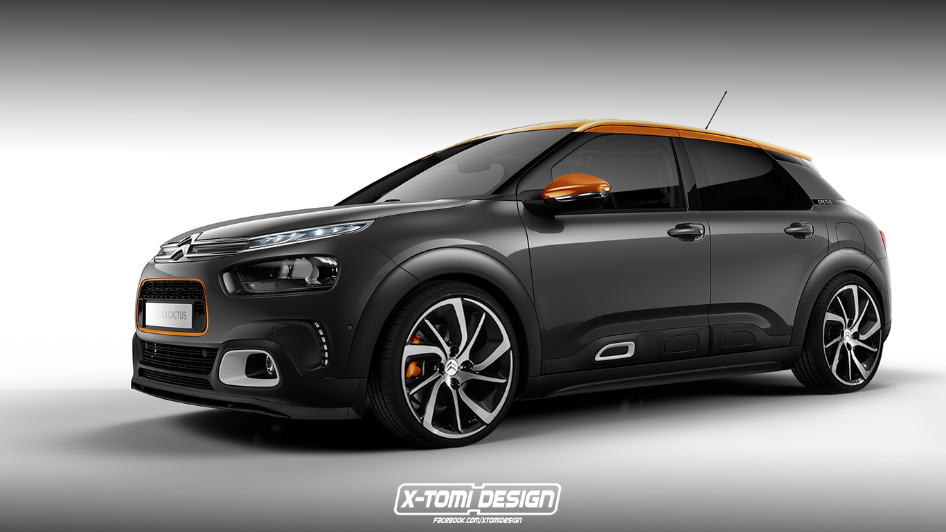 citroen c4 cactus racing wizja modelu. Black Bedroom Furniture Sets. Home Design Ideas